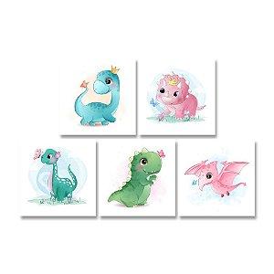 Kit Quadros Decorativos Dinossauros Baby