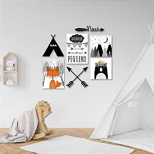 Kit Decoração Infantil Boho Nórdico + Presente (Flâmula)