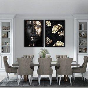 Quadros Decorativos Mulher Ouro