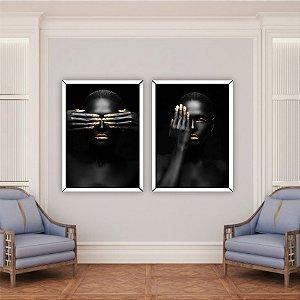 Quadros Decorativos Mãos Douradas