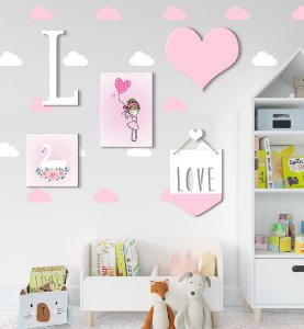 Kit Decoração Infantil Love Menina