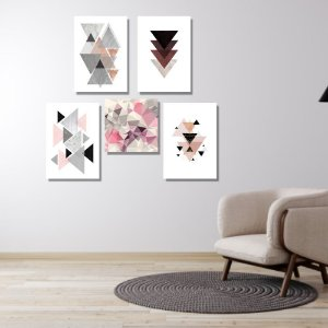 Kit Quadros Decorativos Decoração Abstrato