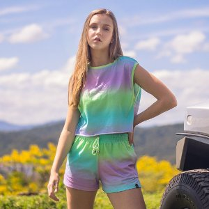 Cropped Tie Dye - Candy Colors