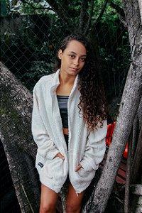 JAQUETA FAUX FUR - OFF WHITE