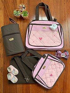 Kit Bolsa Maternidade Premium Rosa