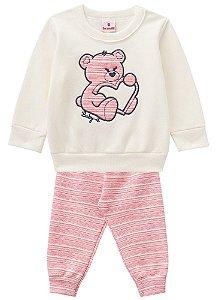 Conjunto Blusa e Calça Ursinho Amoroso
