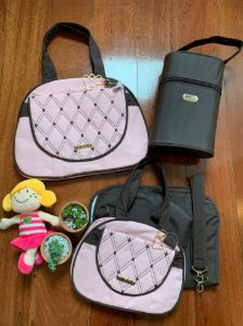 Kit Bolsa Maternidade Diamond Rosa