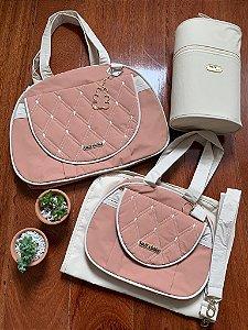 Kit Bolsa Maternidade Diamond Rosé