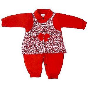 Macacão Vestido Vermelho