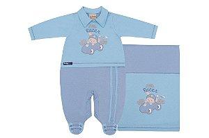 Saída Maternidade Race Azul