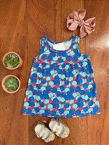 Vestido Cerejas Azuis