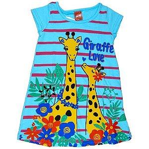 Vestido Girafinha Azul
