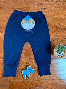 Calça Avulsa com Pé Reversível Menino Azul Marinho