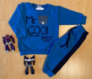 Conjunto de Moletom Mr. Cool Azul Royal