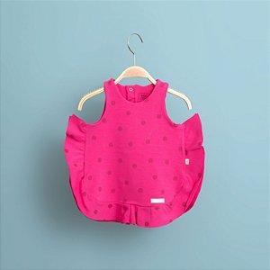 Vestido Babados Pink
