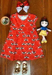 Vestido Abelinhas Vermelho