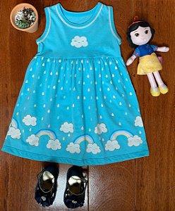 Vestido Nuvem Azul
