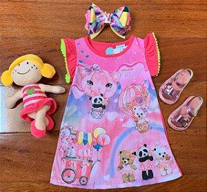 Vestido Festa dos Balões Pink