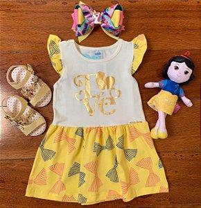 Vestido Love Amarelo