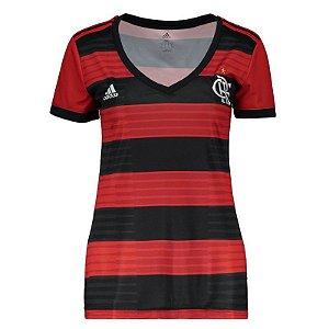 Nova Camisa Flamengo Feminina Oficial Adidas 2018 2019 Futtudo 663c63713af81