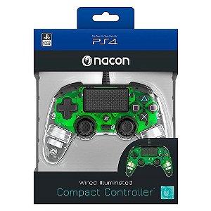 Controle Nacon Ps4- Compacto Iluminado Verde