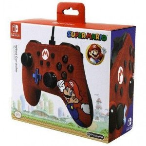 Controle Com Fio Edição Super Mario Nintendo Switch