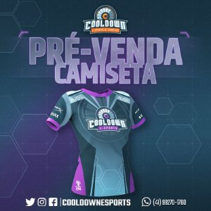 Camiseta Cooldown E-sports (F) (Pré-venda)