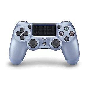 Controle Dualshock 4 Azul Titânio sem fio (Com led frontal) - PS4