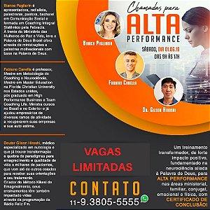 INGRESSO WORKSHOP MULHERES CHAMADAS PARA ALTA PERFORMANCE