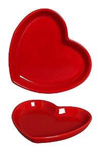 Mini Prato Coração Vermelho