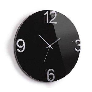 Relógio Parede Elapse Preto