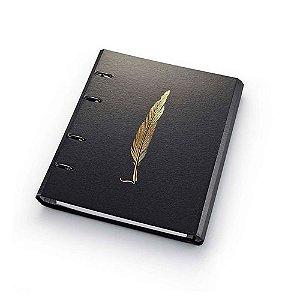 Caderno Argolado Noir Pena