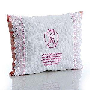 Travesseiro Santo Anjo Rosa
