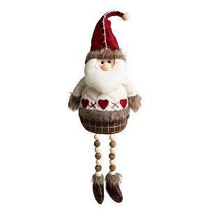 Papai Noel Pernas Miçangas - 45cm