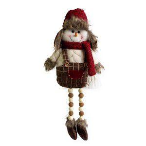 Boneco de Neve Pernas Miçangas - 45cm
