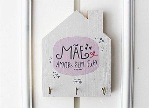 Porta Chaves Casinha Mãe Amor Sem Fim