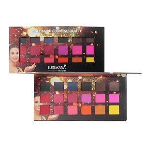 Paleta de Sombras Matte com 18 cores Ludurana