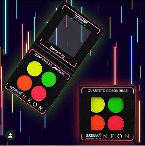 Paleta de Sombras Neon Ludurana