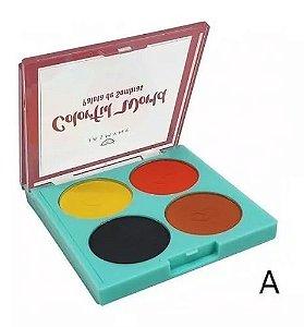 Paleta de Sombras Colorfull World c/ 4 cores - Jasmyne