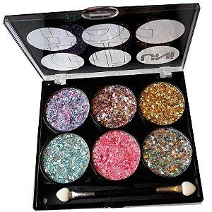 Paleta de Glitter Flocado Prensado - Uni MakeUp