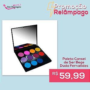 Paleta de Sombras Cansei de Bege 12 cores- Duda Fernandes By Arela MakeUp