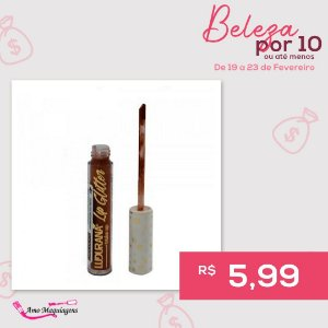 Gloss Chocolate Lip Glitter- Ludurana