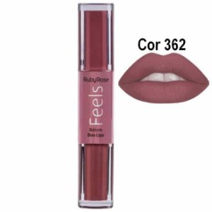 Batom Duo Lips Feels cor 362 - Ruby Rose