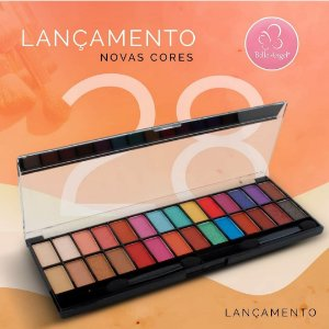 Paleta de Sombras 28 cores nova versão - Belle Angel