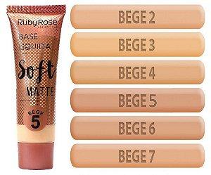 Base Líquida Soft Matte - Ruby Rose (Cores Bege)