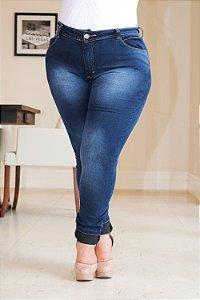 7af725721 Calça Jeans Plus Size Azul índigo zoom