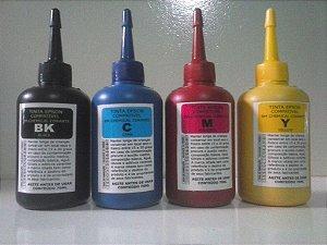 kit com 4 frasco de tinta compatível epson