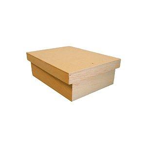 Caixa de Madeira com Tampa - PP - 20,5x14x8cm - 01 unidade - Rizzo Embalagens