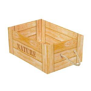 Caixote de Papel Cartão Nature com Alça -  1 unidade - Cromus - Rizzo