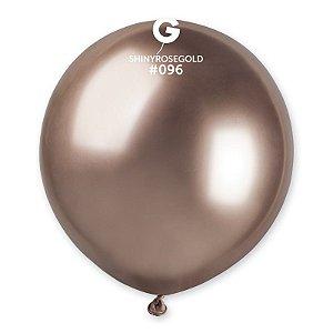 """Balão de Festa Látex 19"""" 48cm - Shine Rose Gold - 01 Unidade - Gemar - Rizzo Balões"""
